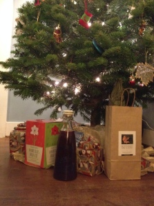Our mulled wine waiting to head to the holiday party